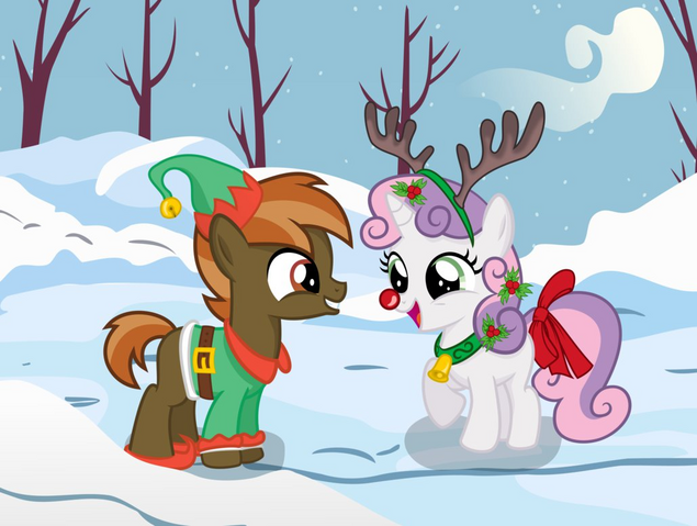 File:Button Mash and Sweetie Belle in the snow.PNG