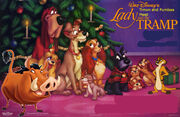 Timon and Pumbaa Meet Lady and the Tramp Poster