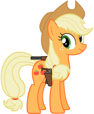 File:Applejack with coachgun and .45 colt.png