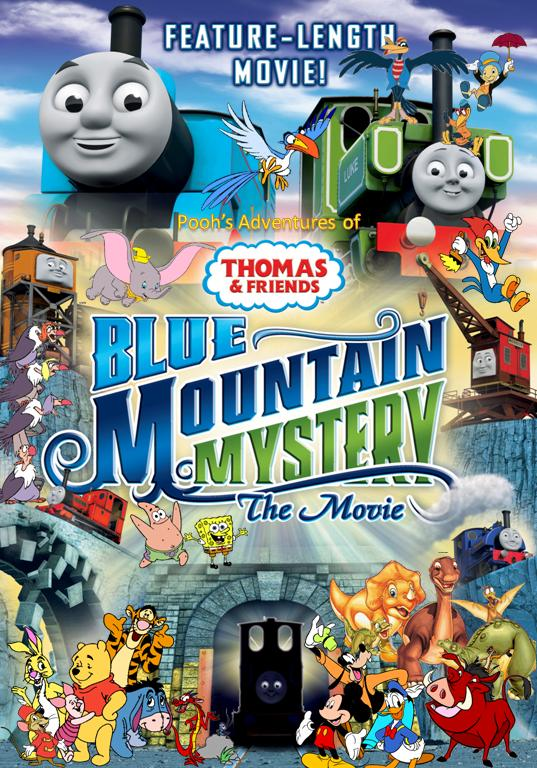 Pooh's Adventures of Thomas and Friends - Blue Mountain Mystery - The Movie Poster