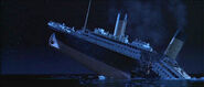 Titanic breaks in half