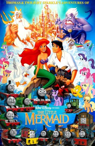 File:Thomas and Twilight Sparkle's Adventures of The Little Mermaid Poster.jpg