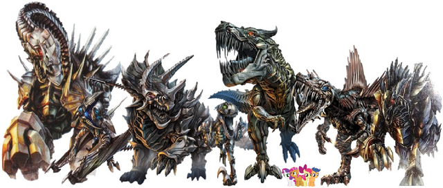 File:The Royal Crusaders and the Dinobots.png