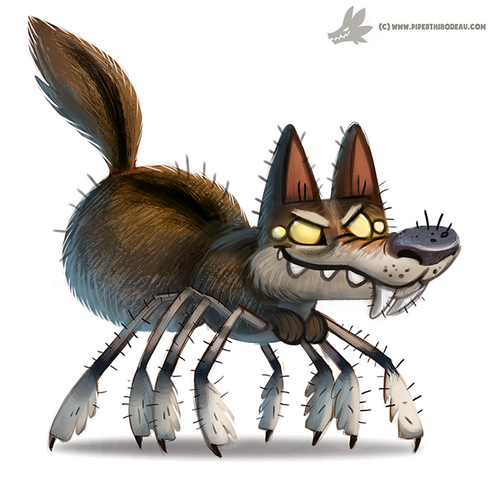 File:Daily paint 1040 wolf spider by cryptid creations-d9b18q6.png