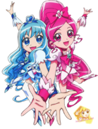 Cure blossom and marine render by xxsweetlemonadexx-d5o198d