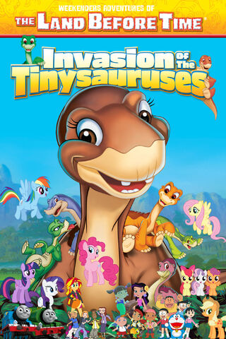 File:Weekenders Adventures of The Land Before Time 11- Invasion of the Tinysauruses (remake poster).jpg