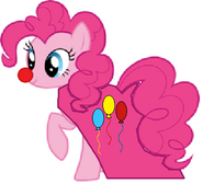 Pinkie as a party clown