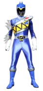 Dino Charge Blue Ranger in Dino Steel