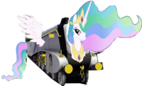 MLP Princess Celestia as Thomas character