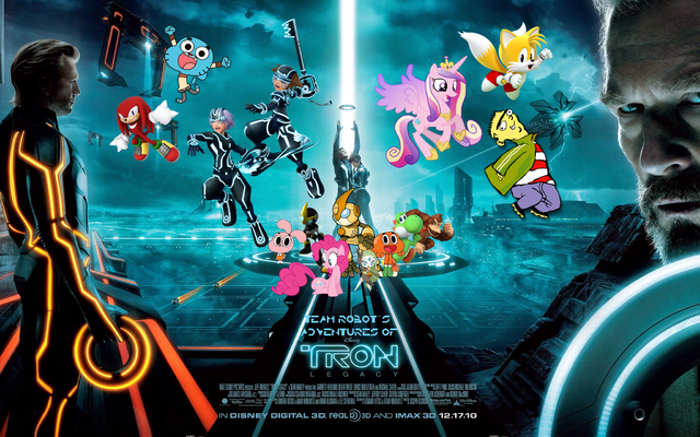File:Team Robot's Adventures Of TRON LEGACY Poster.png