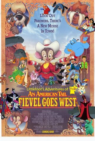 File:Littlefoot's Adventures of An American Tail; Fievel Goes West Poster.jpg