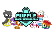 Puffle logo by cool pixels