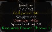 Javelins Stats