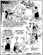 Segar's own daily life strip and caricature