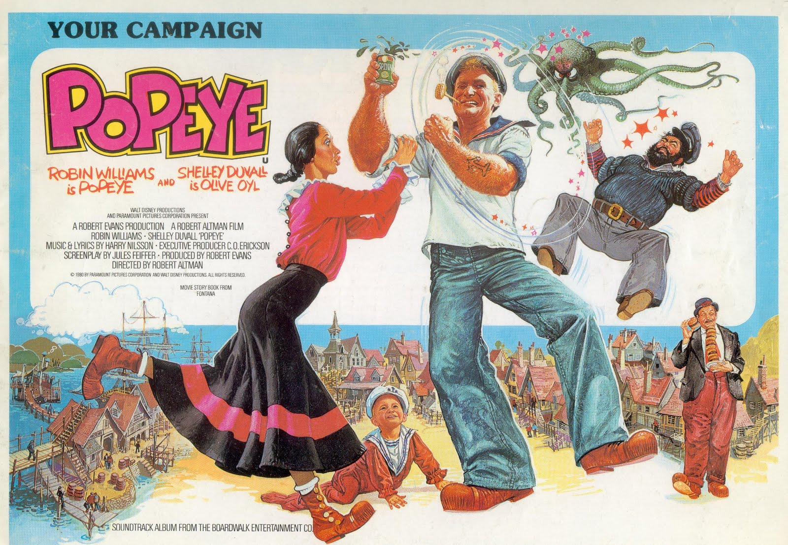 Image result for popeye musical 1980