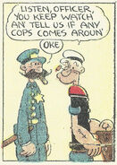Popeye and his crooked Cop friend in 1931