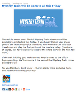 Mystery Train Open this Friday