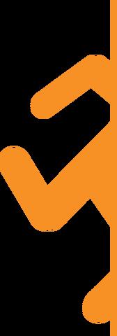 File:Portal 2 logo runner orange by dachterm7622-d6k3rwo.png