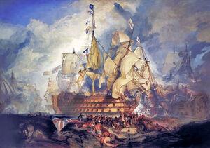 Turner, The Battle of Trafalgar (1822)