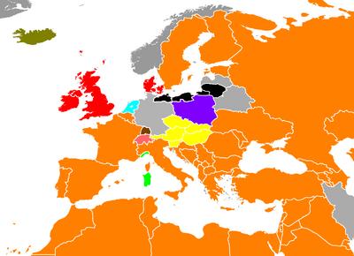 PORa Europe World Map 1747