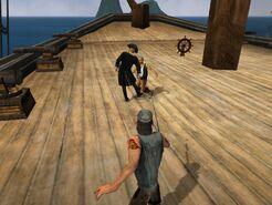Boarding a ship