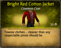 Bright Red Cotton Jacket