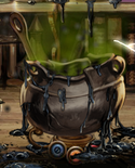 Exploded cauldron