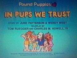 Title screen for In Pups We Trust