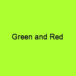 Green and red title card