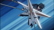 Kazuki wielding Double Sunlight Heart