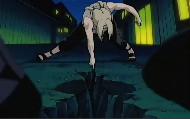 File:Tsunade cleaves the ground.png