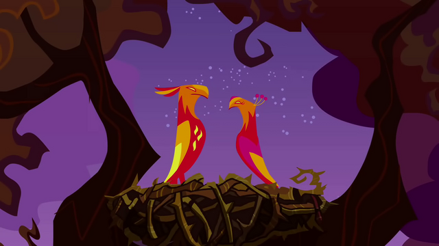 File:Phoenixes looking at each other S2E21.png