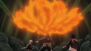 Obito using fire technique