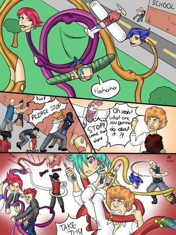 File:Commission elastic girls vs bullies 1 by oliriv-daciu0o.jpg