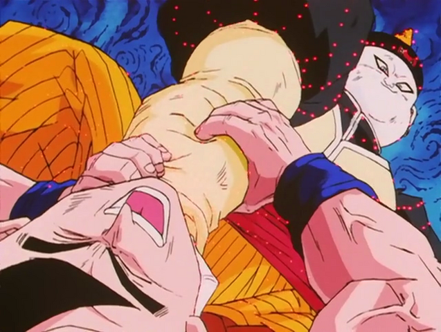 File:Artificial Human -19 Drains Goku's Energy.png