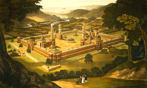 File:New Harmony by F. Bate (View of a Community, as proposed by Robert Owen) printed 1838.jpg