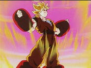 DBZ ep207 Take Flight, Videl SSJ Goku's Weight Training 17