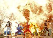 All Dino Rangers in Super Dino Mode