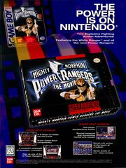 Power Rangers Movie Video Game gameboy NES NickMag September 1995