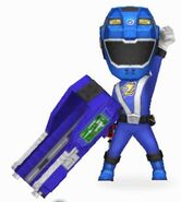 Blue RPM Ranger in Power Rangers Dash
