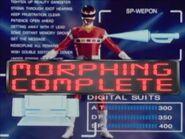 Red Space Ranger Morph 2