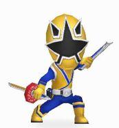 Gold Samurai Ranger In Power Rangers Dash