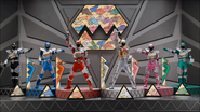 Dino Charge Ultrazord Cockpit with Main 5 Rangers with Silver