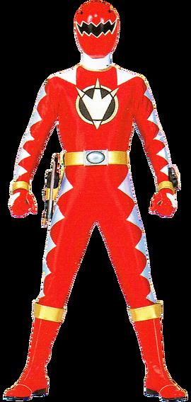 File:Red Dino Ranger & AbareRed.png