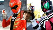 Gokai Change and Kamen Ride