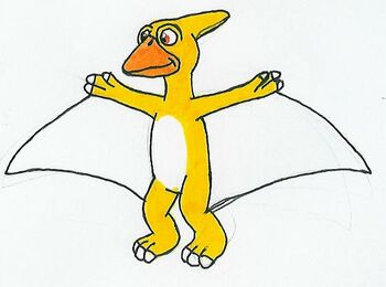 Pterly the Yellow Pteranodon by MCsaurus