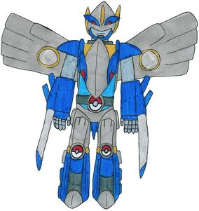 Soul Lugia zord-Warrior Mode