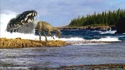 Liopleurodon eats eustreptospondylus