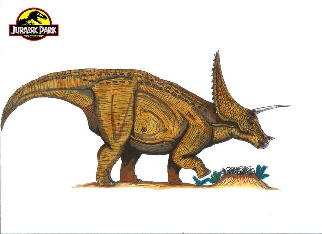 File:Jurassic Park Triceratops by hellraptor-1-.jpg