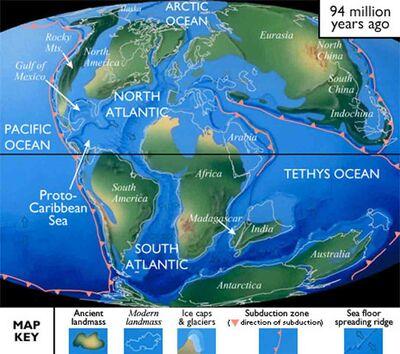 Cretaceous Period Map